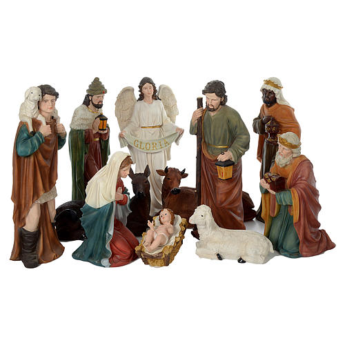Nativity scene in resin 80 cm with 11 pieces 1