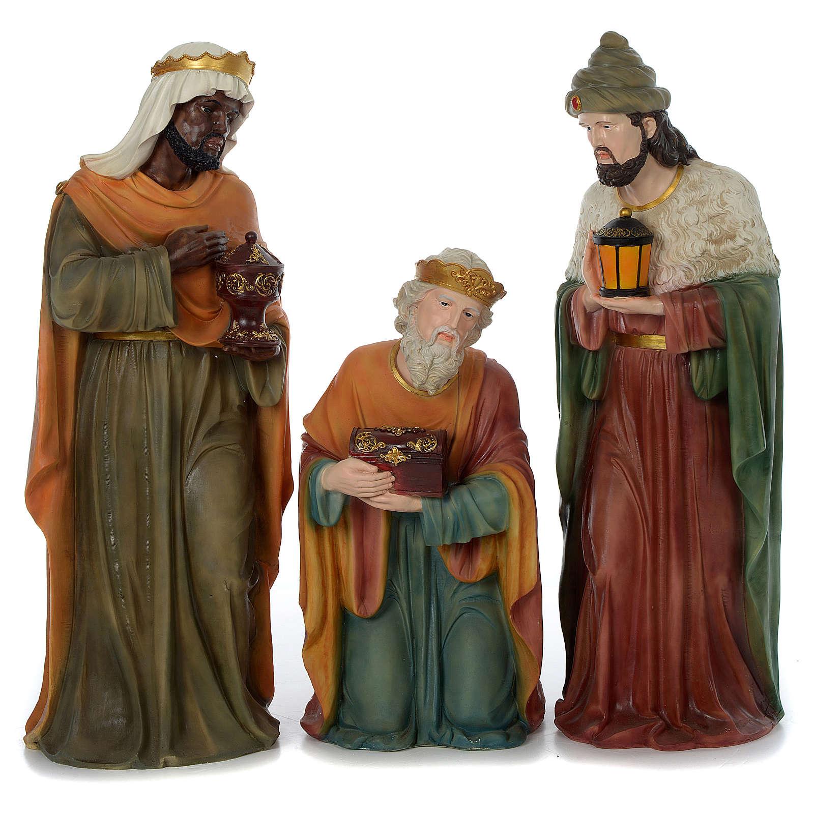 Crèche 80 cm résine peinte 11 statues 4
