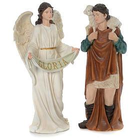 Crèche 80 cm résine peinte 11 statues s4