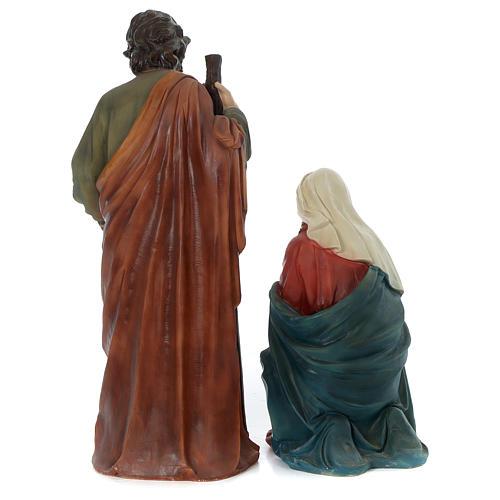 Crèche 80 cm résine peinte 11 statues 9