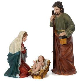 Presépio de Natal 11 Figuras Resina Pintada Altura Média 80 cm s3