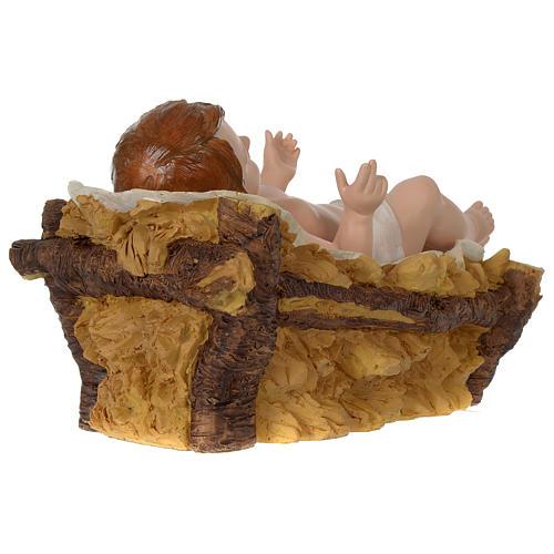 Presépio de Natal 11 Figuras Resina Pintada Altura Média 80 cm 8