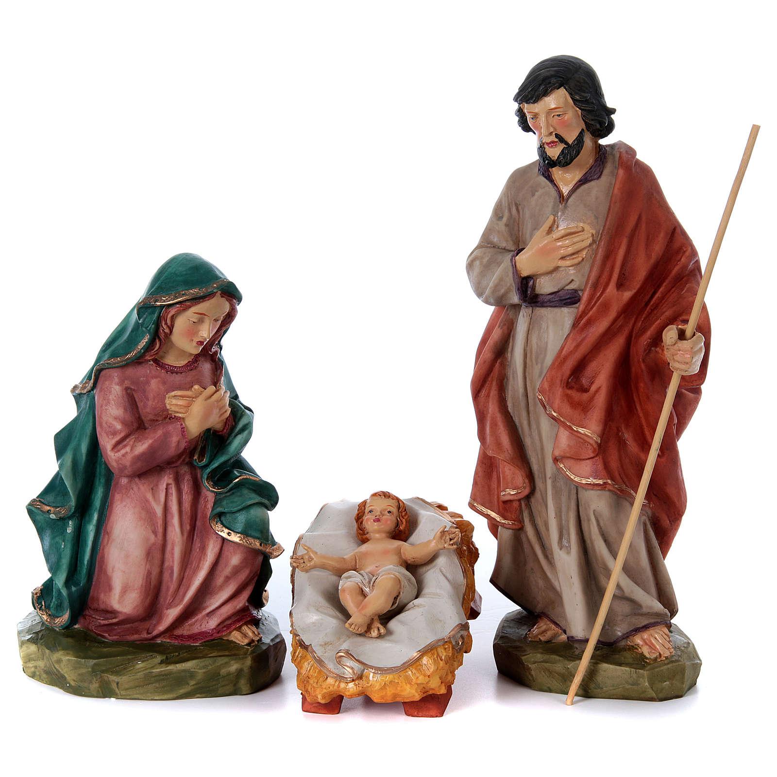 Nativity scene in painted resin, 10 pcs 45 cm 4