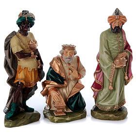 Nativity scene in painted resin, 10 pcs 45 cm s3