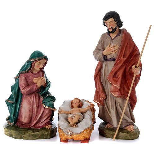 Nativity scene in painted resin, 10 pcs 45 cm 2