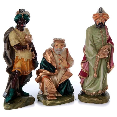 Nativity scene in painted resin, 10 pcs 45 cm 3