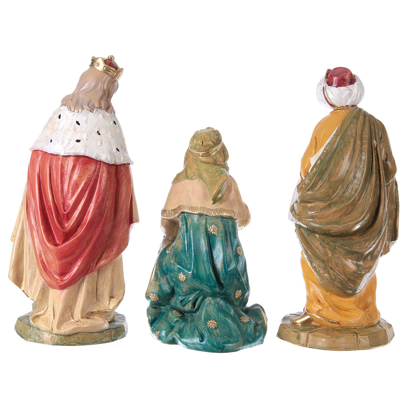 Presépio completo 8 figuras estilo tradicional altura média 30 cm 4