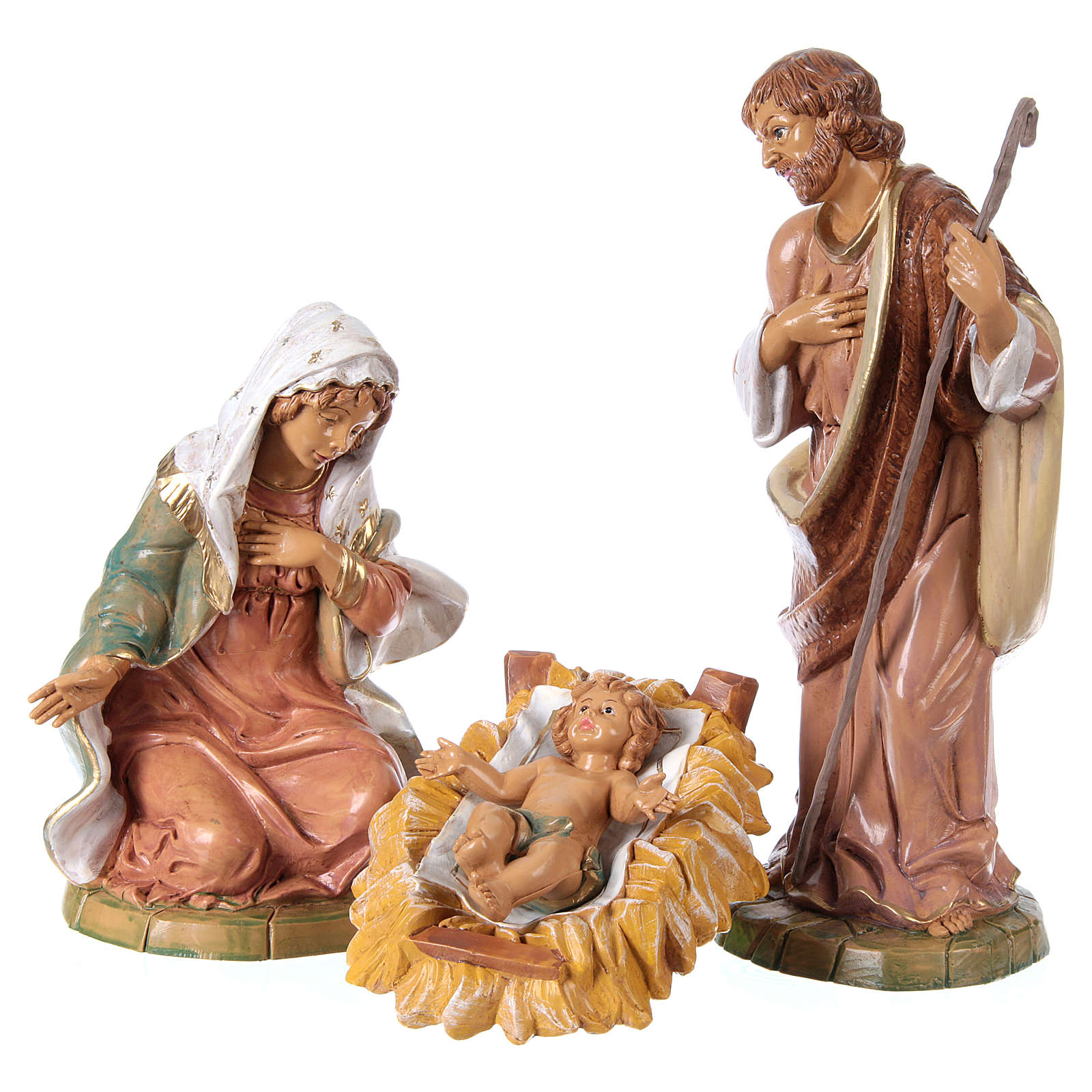 Complete Nativity Scene 30cm, 8 traditional style figurines 4