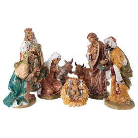 Complete Nativity Scene 30cm, 8 traditional style figurines s1