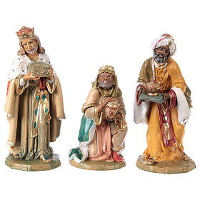 Complete Nativity Scene 30cm, 8 traditional style figurines s3