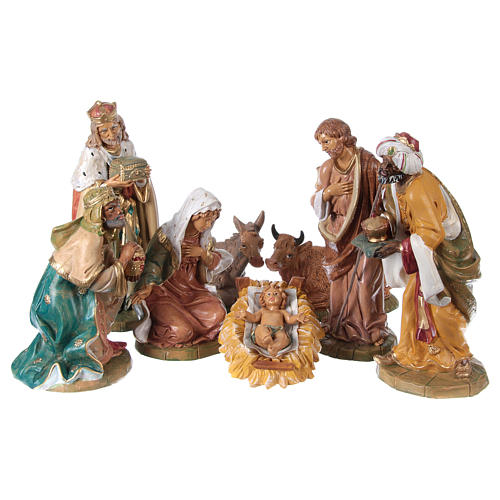 Complete Nativity Scene 30cm, 8 traditional style figurines 1