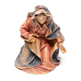 Sacra Famiglia del presepe Original legno tre pezzi dipinto Valgardena 10 cm s3
