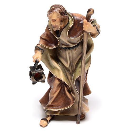 Sacra Famiglia del presepe Original legno tre pezzi dipinto Valgardena 10 cm 4