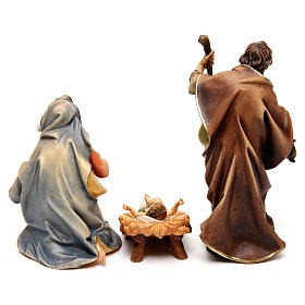 Original Nativity Scene in painted wood from Valgardena three pieces 12 cm s5