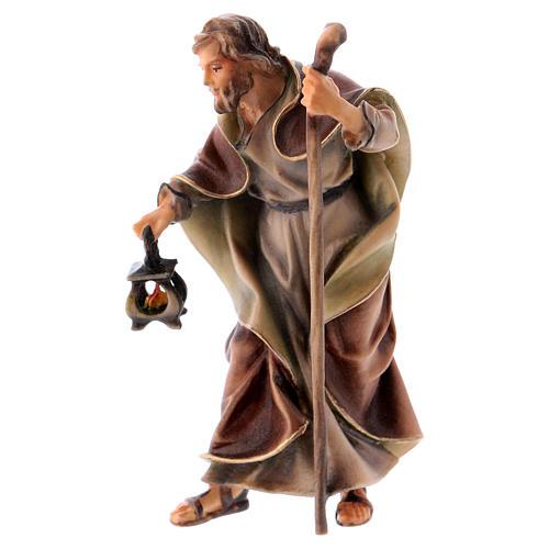 Estatua San José belén Original madera pintada Val Gardena 10 cm de altura media