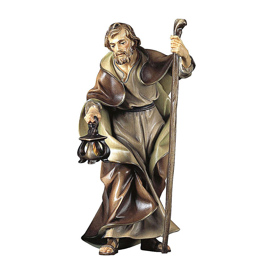 Statuetta San Giuseppe presepe Original legno dipinto Valgardena 10 cm 4