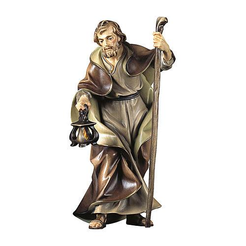 Statuetta San Giuseppe presepe Original legno dipinto Valgardena 10 cm 1