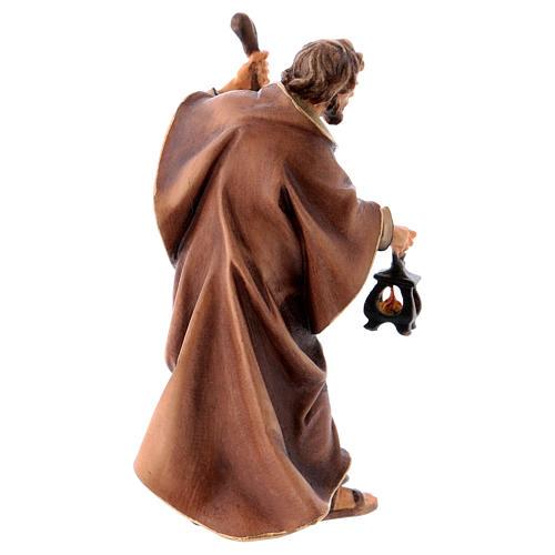 Statuetta San Giuseppe presepe Original legno dipinto Valgardena 10 cm 3