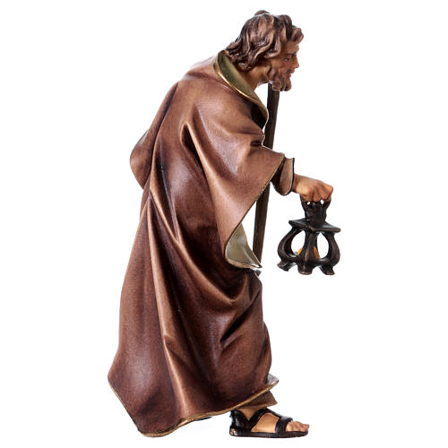Estatua San José belén Original madera pintada Val Gardena 12 cm de altura media 3