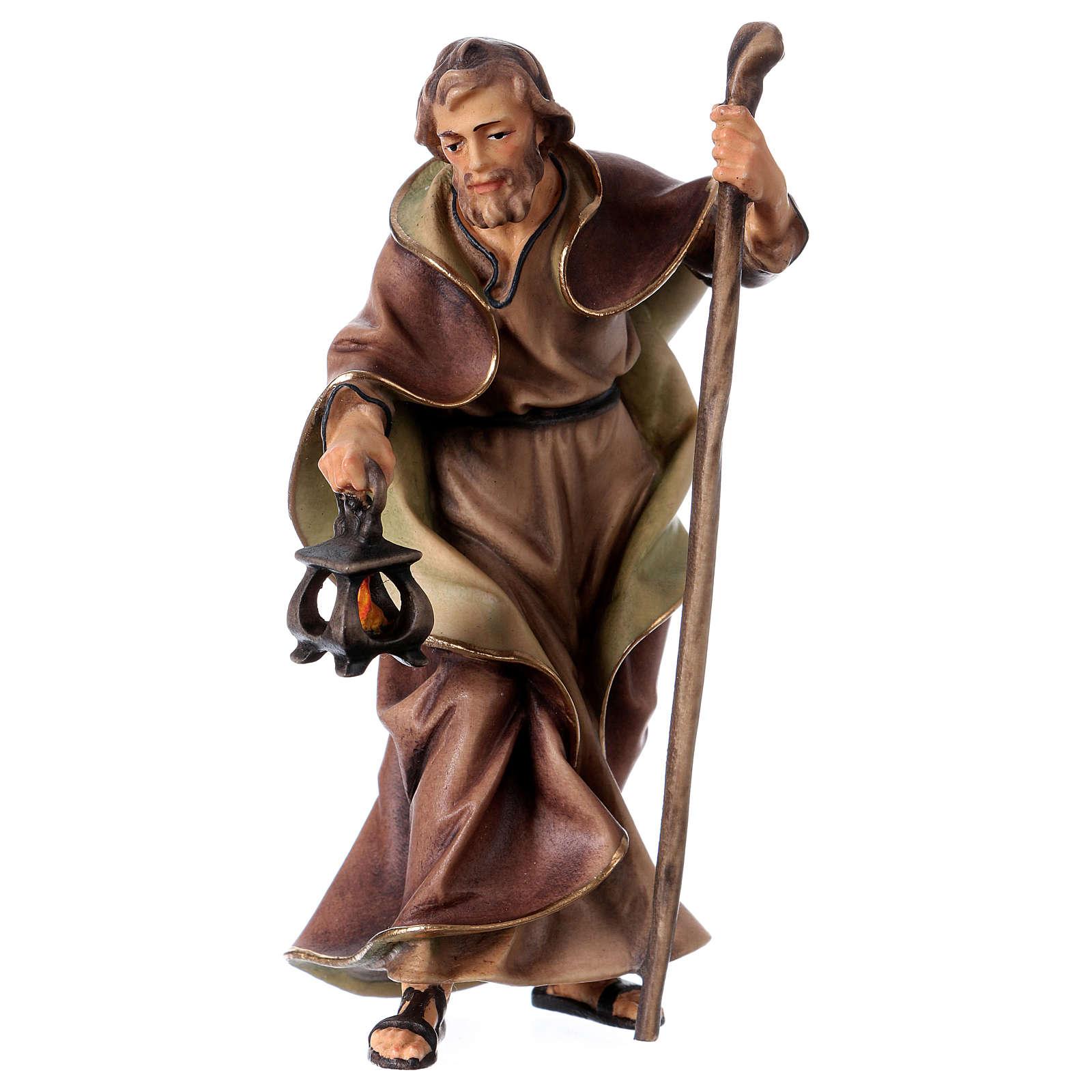 St. Joseph figurine, 12 cm Original Nativity model, in painted Valgardena wood 4