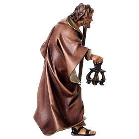 St. Joseph figurine, 12 cm Original Nativity model, in painted Valgardena wood s3