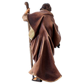 St. Joseph figurine, 12 cm Original Nativity model, in painted Valgardena wood s4