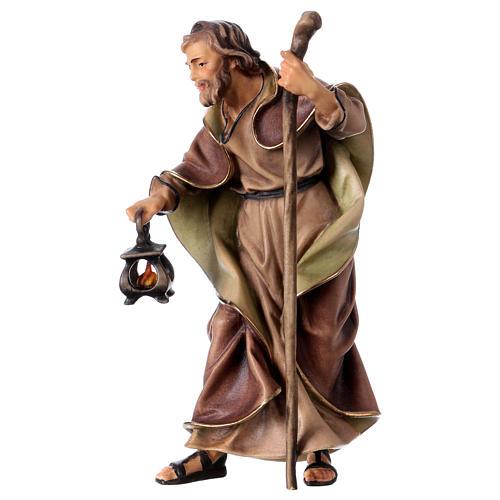 St. Joseph figurine, 12 cm Original Nativity model, in painted Valgardena wood 2