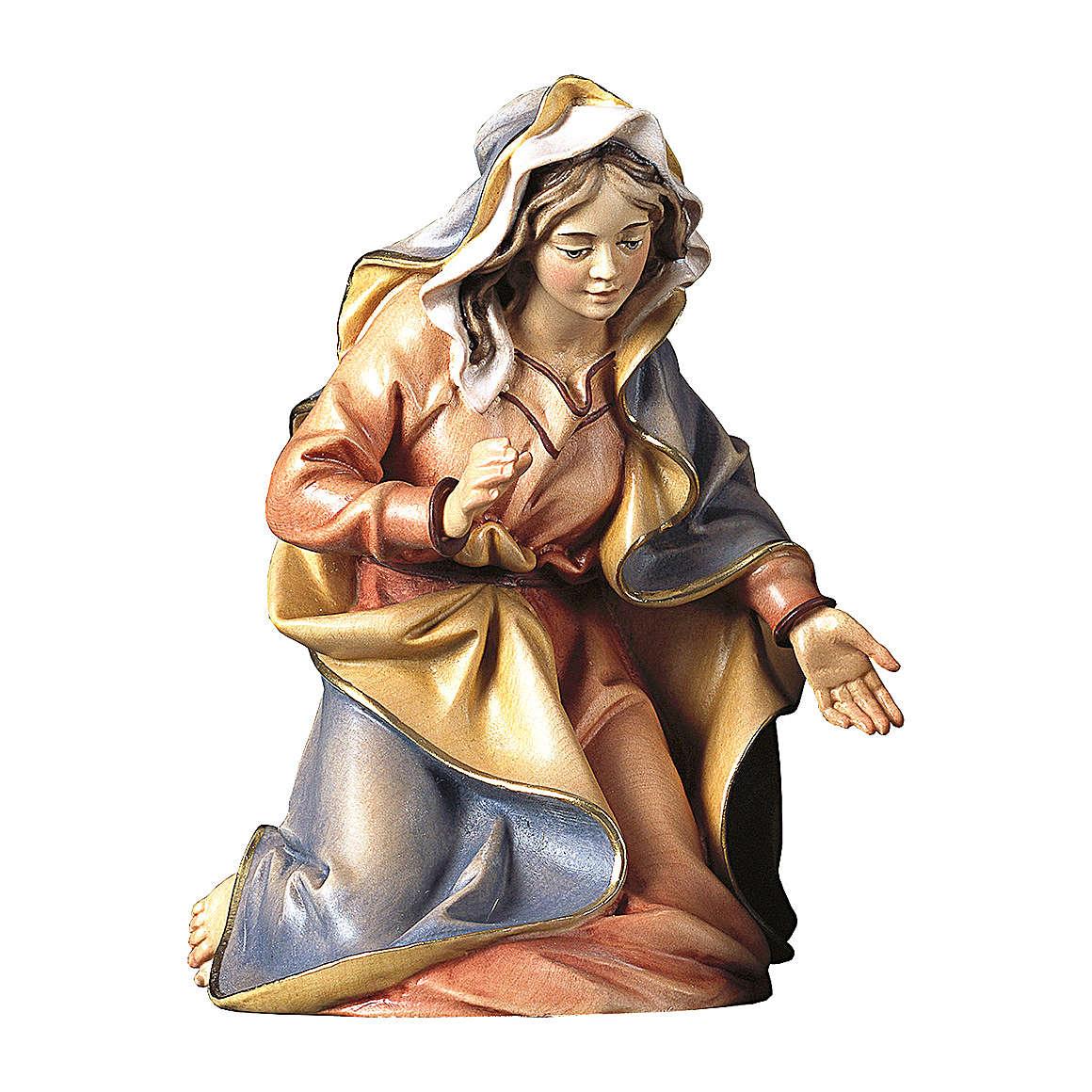 Statuetta Madonna presepe Original legno dipinto Valgardena 10 cm 4