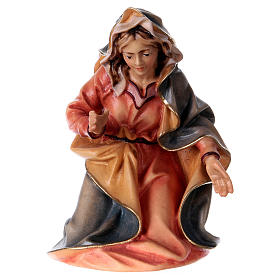 Belén Val Gardena: Estatua Virgen belén Original madera pintada Val Gardena 12 cm de altura media