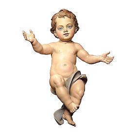 Statuetta Gesù Bambino presepe Original legno dipinto Valgardena 10 cm s1