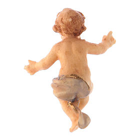 Statuetta Gesù Bambino presepe Original legno dipinto Valgardena 10 cm s2