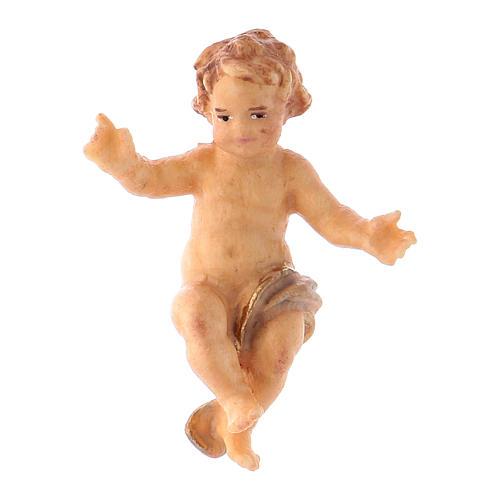 Statuetta Gesù Bambino presepe Original legno dipinto Valgardena 10 cm 1
