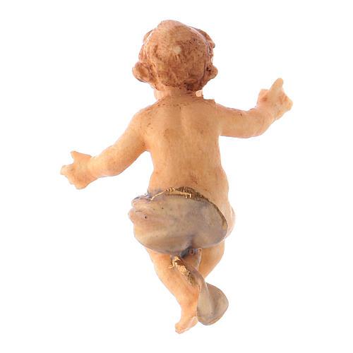 Statuetta Gesù Bambino presepe Original legno dipinto Valgardena 10 cm 2