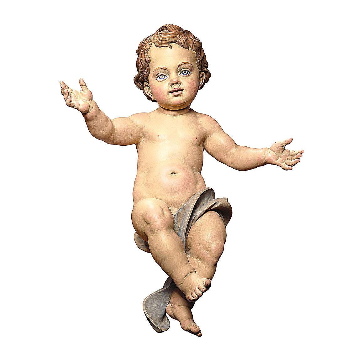Statuetta Gesù Bambino presepe Original legno dipinto Valgardena 12 cm 4