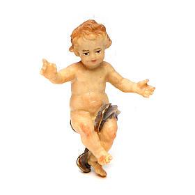 Statuetta Gesù Bambino presepe Original legno dipinto Valgardena 12 cm s1