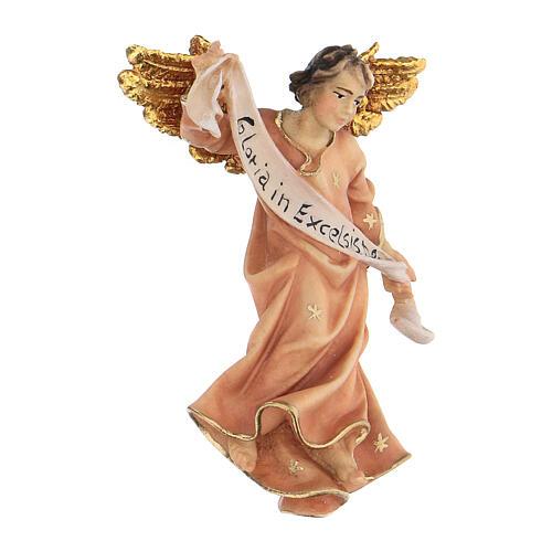 Estatua ángel rojo belén Original madera pintada Val Gardena 10 cm de altura media 3