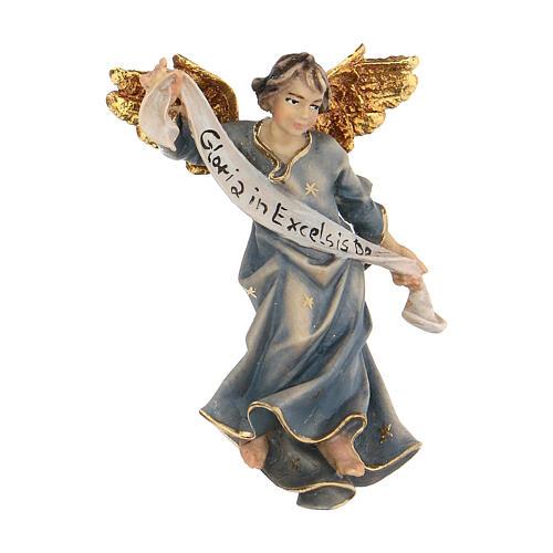 Blue angel Original Nativity Scene in painted wood from Valgardena 10 cm 1