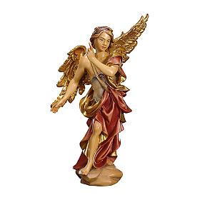 Statuetta Angelo Annunciatore presepe Original legno dipinto Valgardena 12 cm s1