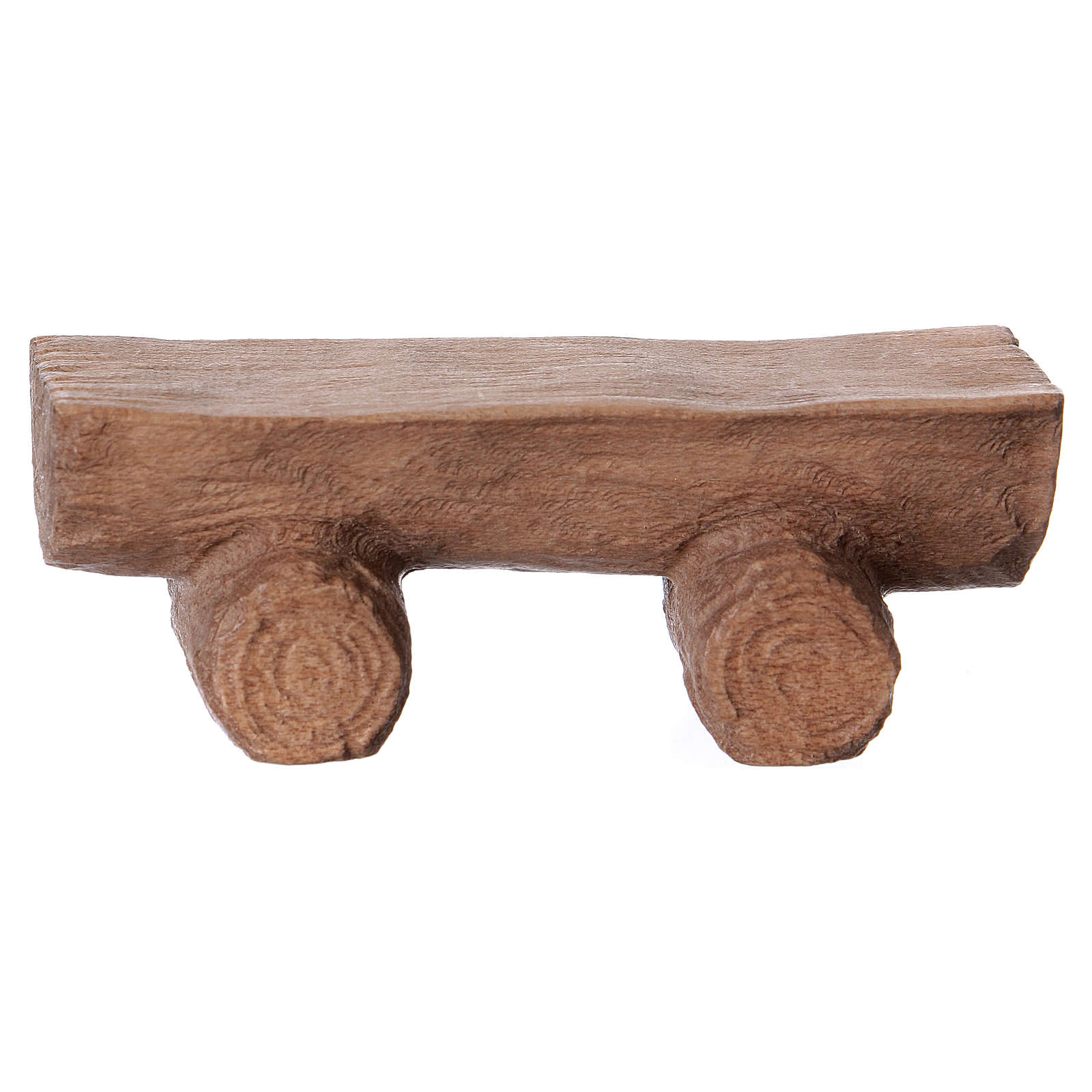 Banco realizado a mano belén Original madera pintada Val Gardena 12 cm 4