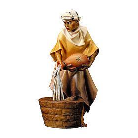 Statuetta cammelliere brocca presepe Original legno dipinto Valgardena 12 cm s1