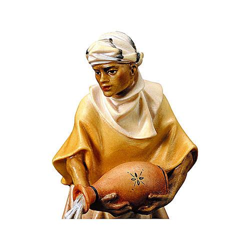 Statuetta cammelliere brocca presepe Original legno dipinto Valgardena 12 cm 2