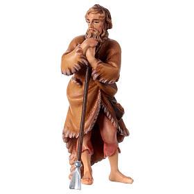 Belén Val Gardena: Pastor con azada belén Original madera pintada Val Gardena 12 cm de altura media