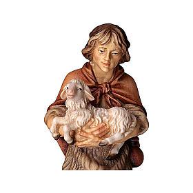 Pastore con agnello presepe Original legno dipinto Valgardena 12 cm s2