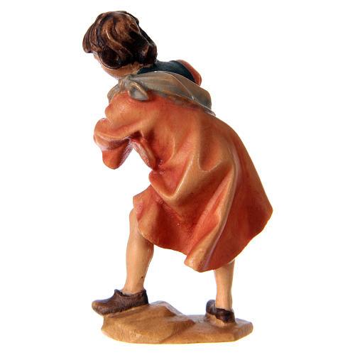 Bambino con galline presepe Original legno dipinto Valgardena 10 cm 3