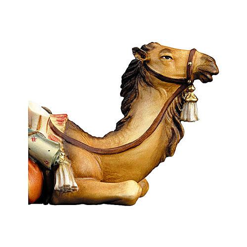 Cammello sdraiato legno presepe Original legno dipinto Valgardena 12 cm 2