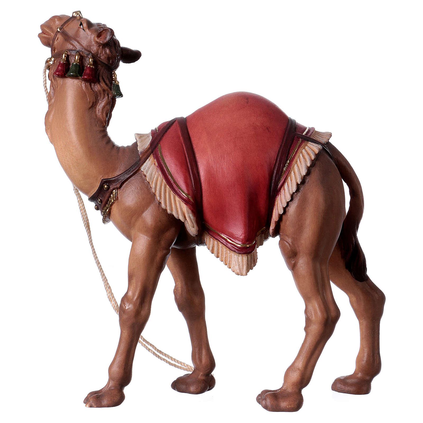 Cammello in piedi legno presepe Original legno dipinto Valgardena 12 cm 4