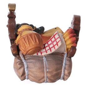Belén Val Gardena: Silla para camello de pie madera belén Original madera pintada Val Gardena 12 cm
