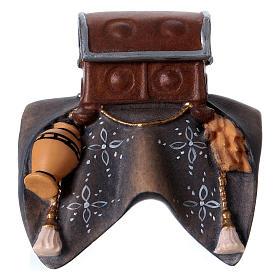 Belén Val Gardena: Silla equipaje para elefante de pie belén Original madera pintada Val Gardena 12 cm