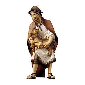 Pastore con capretta presepe Original legno dipinto Valgardena 10 cm s1