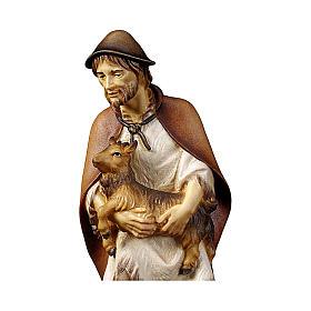 Pastore con capretta presepe Original legno dipinto Valgardena 12 cm s2